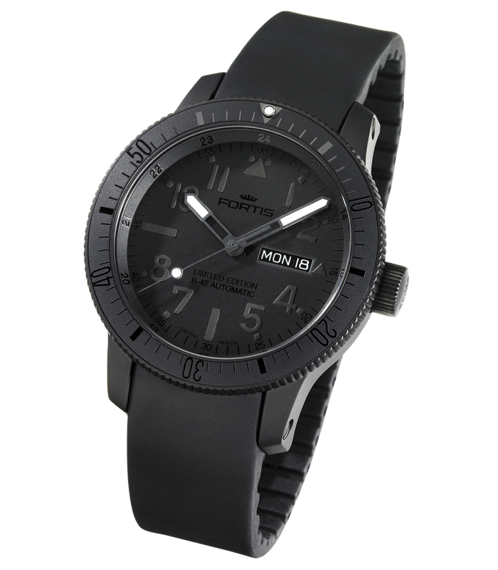 obrazek FORTIS B42-Black & Black Limited Edition 647.28.81