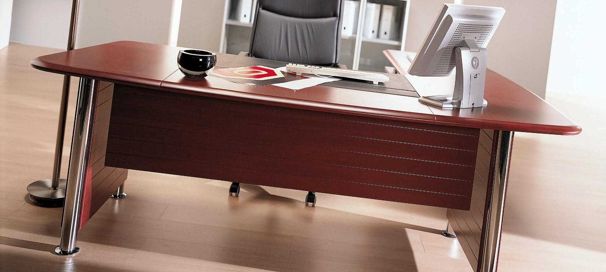 Niewiarygodnie Klasyczne narożne włoskie biurko do gabinetu MX66